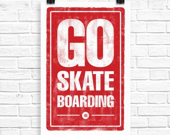 Go Skateboarding Screen Print
