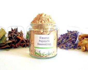 S'mores Gourmet Popcorn Seasoning Mix Topping Flavoring Coating Glaze Foodie Gift