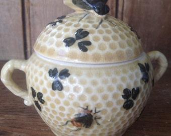 Little earthenware honey pot