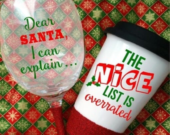 Christmas themed Glassware