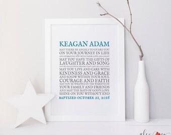 Baptism Printable. Baptism Gift Boy. Personalized Baptism Gift. Baby Boy Baptism Gift. Boy Christening Gift. Baptism Gift For Boy.
