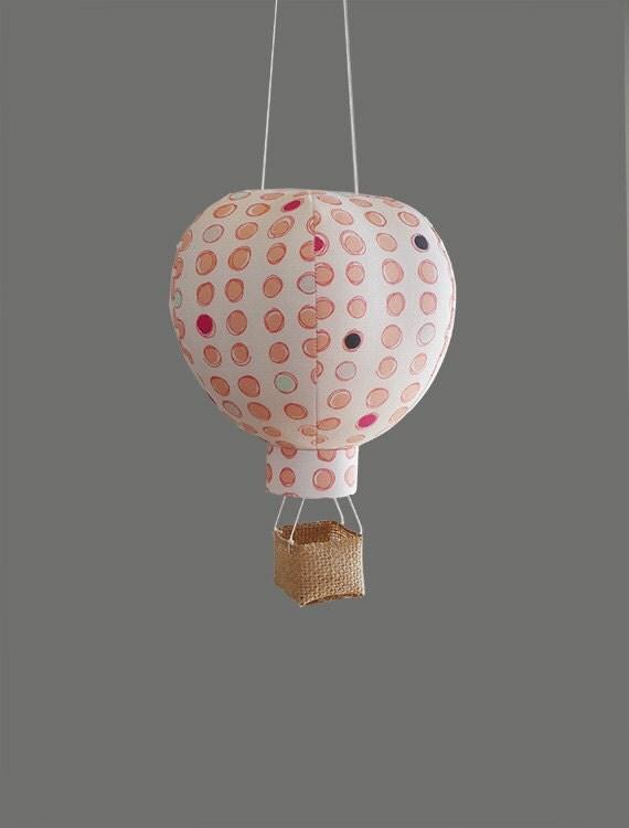 single hot air balloon decoration nursery decor by. Black Bedroom Furniture Sets. Home Design Ideas