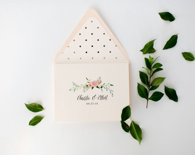 violet personalized thank you cards +  lined envelopes (sets of 10) // wedding thank you cards // lola louie paperie