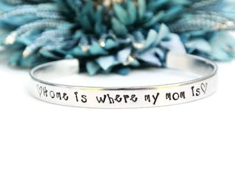 Home Is Where My Mom Is Bracelet | Mother's Day Gift | Mom Jewelry | Gift For Mom | Mom Gift From Daughter | Mom Gift From Son