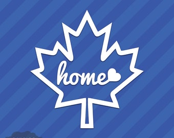 Canada Maple Leaf Home Canadian Vinyl Decal Sticker