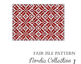 Nordic knitting charts collection 1
