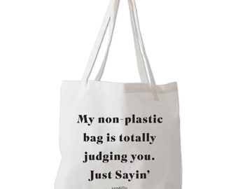 Judging Canvas Tote ...Poly/Cotton Canvas Tote Bag, Grocery Bag, Beach Bag, Made in USA