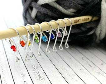 Custom Size Stitch Marker Hooks - Crochet Stitch Markers - Crochet Row Counters - Removable Stitch Markers - DreamingAlice Stitch Markers