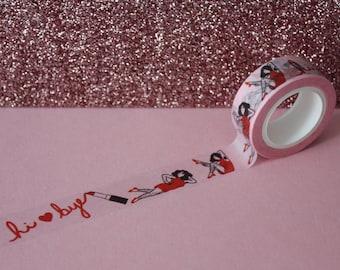 Hairy Babe Washi Tape / Pink