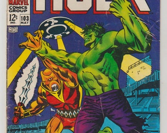 Incredible Hulk; Vol 1, 103, SIlver Age Comic Book. FN- (5.5). May 1968.  Marvel Comics