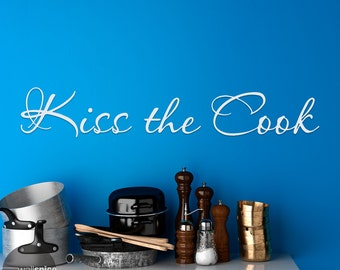Kiss The Cook Vinyl Wall Decal Sticker