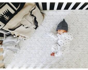 Crib Sheet Charcoal Featherland // Additional Colors, Fitted Crib Sheet, Baby Bedding, Crib Bedding, Organic Crib Sheet, Crib Sheets