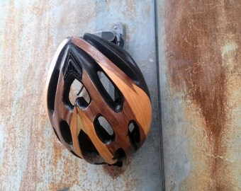 Unique Handcrafted Wooden Bicycle Helmet / Ready to ship / Free shipping worldwide