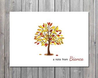 Personalized  Fall notecard/teacher notecard/Spring notes/PROFESSIONALLY PRINTED
