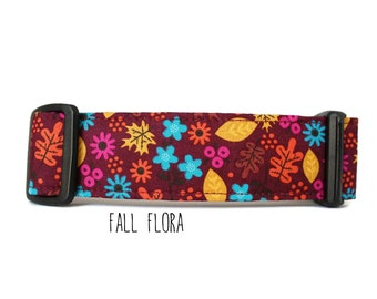 Fall Dog Collar, Autumn Dog Collar, Girl Dog Collar, Boy Dog Collar, Leaf Dog Collar, Leaves Collar (Upgrade to Metal Buckle or Martingale)
