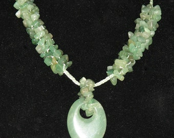 Adventurine Necklace and Pendant 32