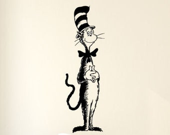The Cat in the Hat Dr. Seuss Vinyl Wall Decal