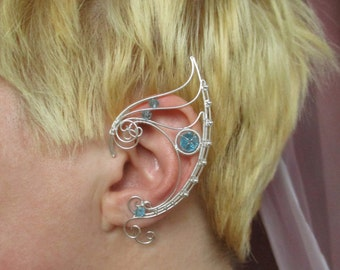 Pair of elven ear cuffs The Queen (Light)