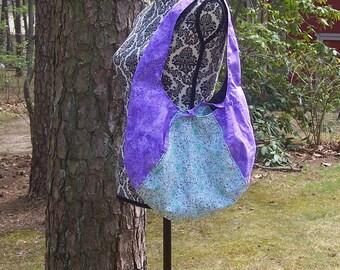 Reversible Unicorn Hobo Handbag - Unicorn Rainbow Purple Flower Purse - Laney Hobo Handbag - Fairy Pixie Fantasy Handbag