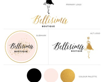 Fashion Boutique Logo - Fashion Sketch Logo - Perfect For Your Small Business!