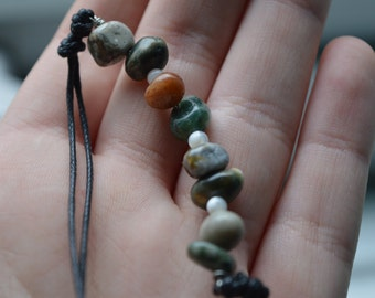 Jasper And Mother Of Pearl Beaded Choker