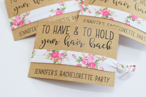 Bachelorette Party Favors Bachelorette Party Favor Hair Ties To Have & To Hold Your Hair Back Bachelorette Party Hair Tie Favors