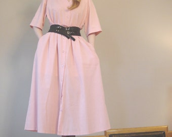 Vintage pretty in blush pastel pink 2 piece maxi skirt and top set size M