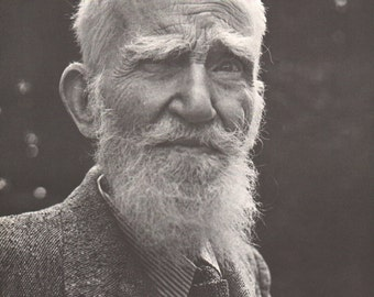 Print from book; George Bernard Shaw, 9 1/2 x 12 1/2 inches - PD001152