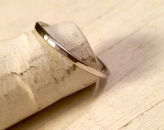 Hammered Palladium Ring, a thin elegant band made from palladium for men and women.