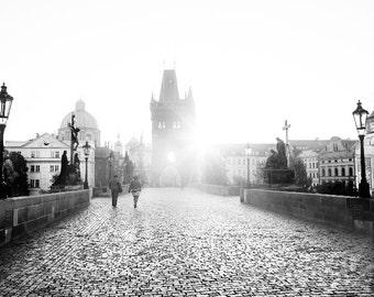 """Prague Photography, Charles Bridge, """"Sunrise"""""""