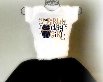 Second Birthday Outfit/Customized Onesies/Birthday outfit-Smash Cake
