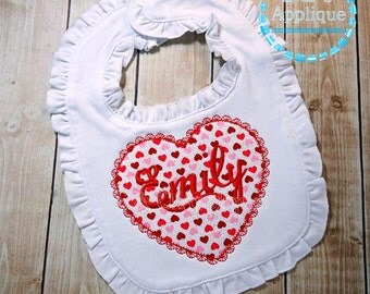 Lace Heart Monogram Frame Applique - Lace Heart Applique Design - Heart Applique - Heart Monogram Applique Design - Valentine's Day Applique