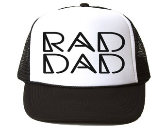 Rad Dad Trucker Hat - Adult, Fathers Day Gift, Adult Trucker, Summer Trucker Hat