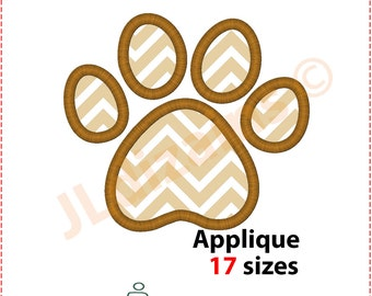 Paw Print Applique Design. Paw Print Embroidery design. Pawprint applique design. Embroidery Paw Print. Machine embroidery design.