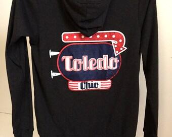 Toledo Diner Marquee Lightweight Zip-Up Hoodie