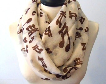 Music Shawl Scarf, Scarf, Music Note Scarf Cotton Scarf Summer Scarf Fashion Women Accessories Mother's Day Gift For Her Scarves ChicDays