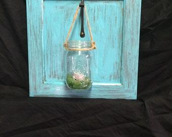 Farmhouse Decoration  - Rustic Wall Decor - Rustic decor - Mason jar sconce