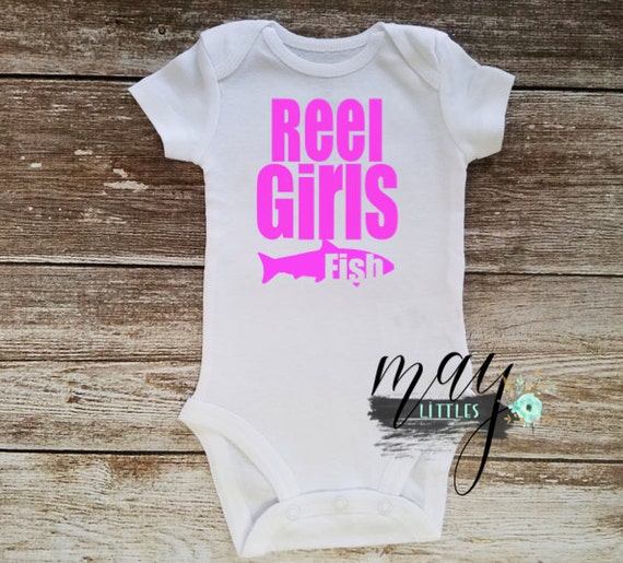Reel Girls Fish Pink Baby Onesie Fishing Baby By Maylittles