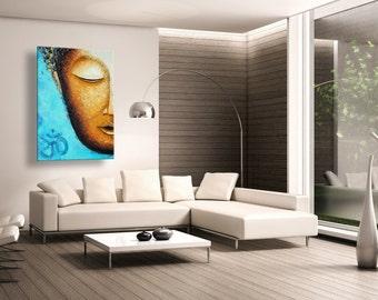 "oil painting, modern art, ""  Buddha's Light"", canvas art, paintings on canvas, wall art, painting, abstract painting, wall painting, art"