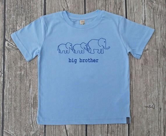 T-shirt organic big brother twins boy birth