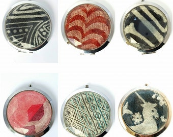 Wrap scrap and glass compact mirrors