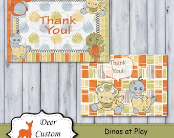 Thank You Cards | Dinos at Play Nursery | DIY Printable | Personal Use Only | Instant Download
