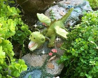 Miniature dragon, fairy garden dragon, fairy garden accessories, fairy garden supplies, roaring dragon, faerie supplies