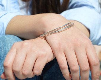 Thin Silver Bangle, Hammered Bangle, Thin Bangle, Stacking Bangles, Sterling Silver Bangle, silver bracelet, stacking bangle, silver bangle