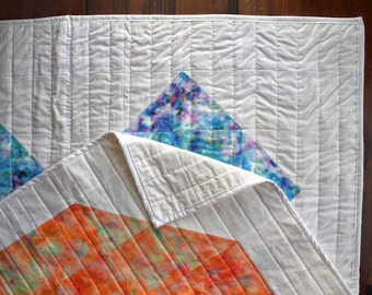 The Love You Like XO Double-Sided Quilt - Modern Watercolor Quilt