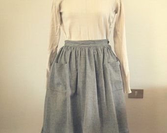 linen x organic cotton apron skirt