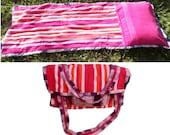 Beach Towel Bag,Tanning Blanket, Sun Tanner Bag, Camper's Mat, Bug Out Sleep Mat Tote, Sunbathing Towel Bag, GoTan Bag,, Camp Mat Bag, Towel
