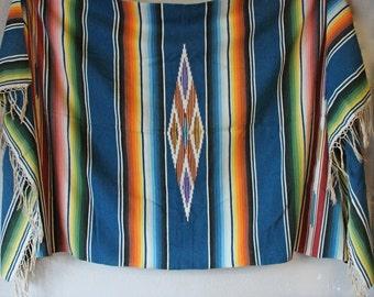 Vintage Serape Saltillo Blanket
