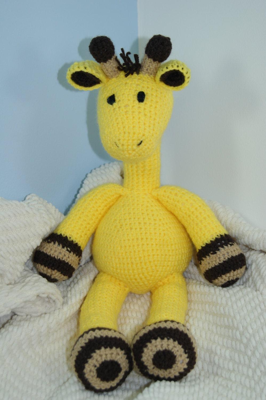 Cuddly Amigurumi Giraffe : Giraffe Cuddly Toy. Handmade Crochet. Gift. CE tested.