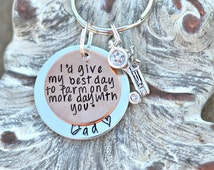 I'd give my best day to farm one more day with you™ Farmer memorial gifts - loss of farmer - Father memorial - brother loss charm - sympathy